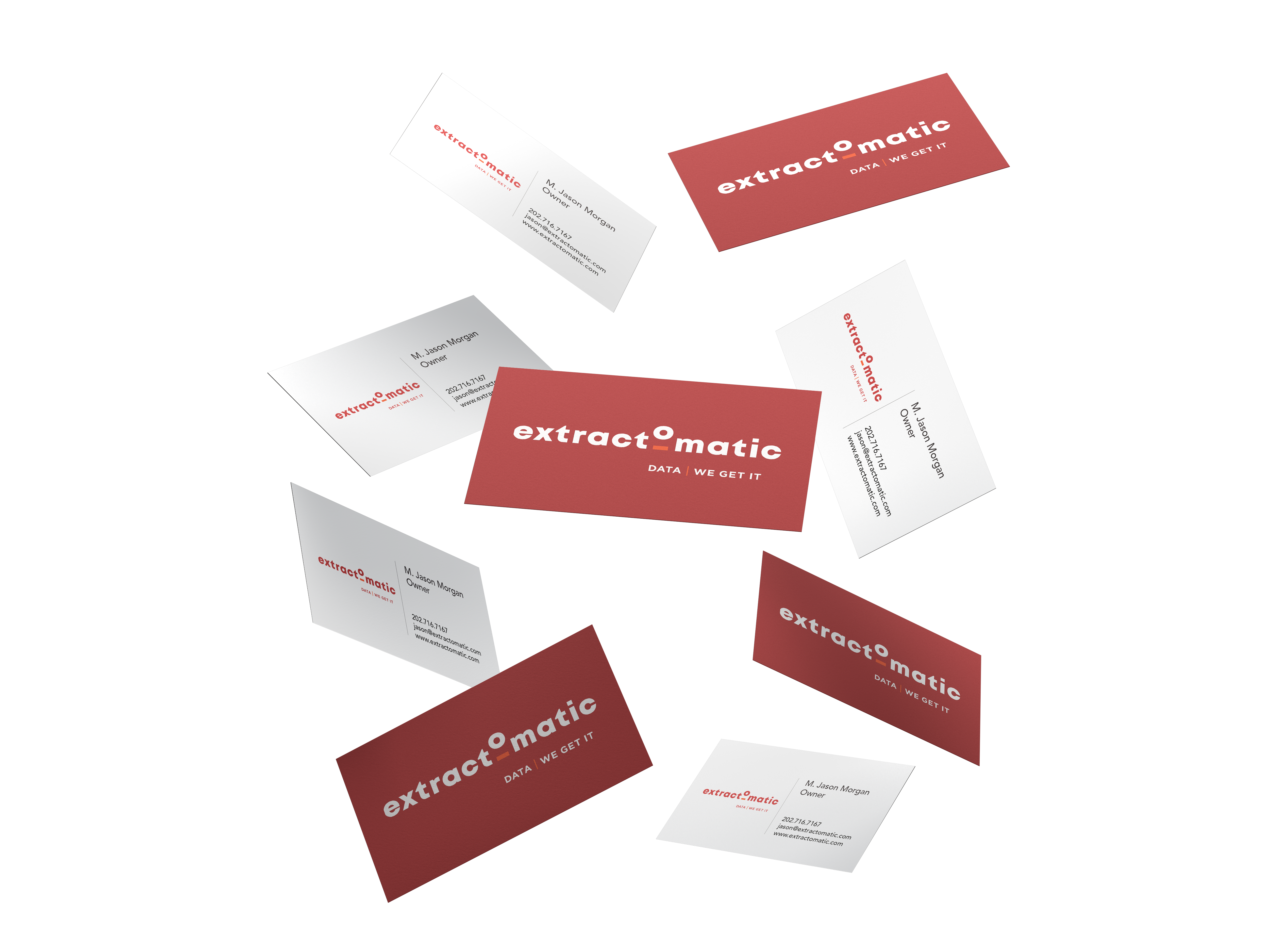Extracto Bus Cards Mock